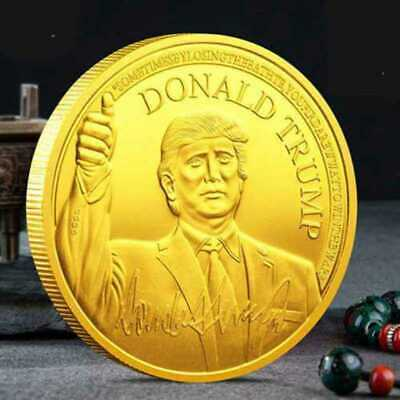 2020 President Donald Trump Inaugural Gold Plated Commemorative Novelty Coin RD4