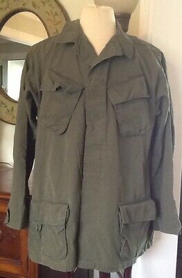 Men's US Army Military Shirt Size Large Long Vietnam Era 1960's -1970's