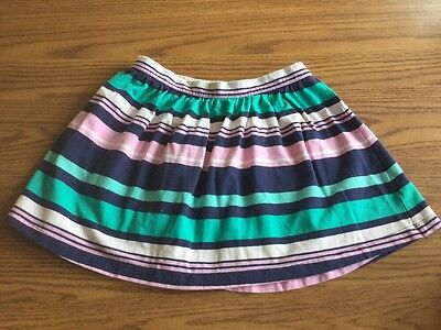 EUC! Gymboree HOP N ROLL Blue Green Pink Striped Skirt Girls Size 8 Comfy!