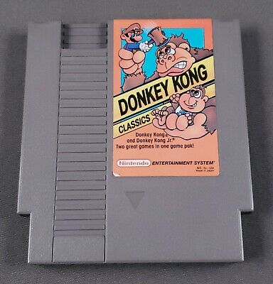 DONKEY KONG CLASSICS 1988 Nintendo NES CLEAN PINS TESTED Authentic
