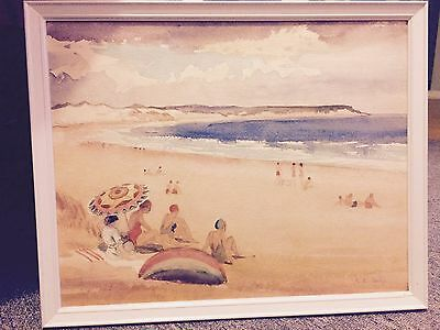 Painting, Watercolour, The Beach