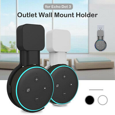 UK Outlet Wall Mount Hanger Holder Stand for Amazon Echo Dot 3rd Generation qw7y