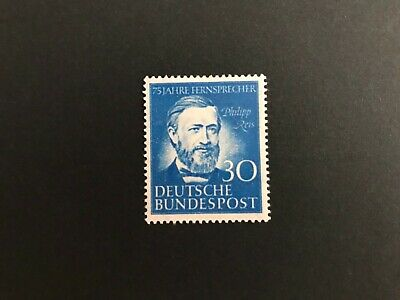 Mint stamp Germany1952 The 75th Anniversary of the Telephone by Philipp Reis