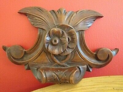 ANTIQUE Victorian mahogany carved wood wooden carvings carving decorative trim