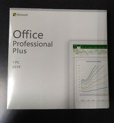Microsoft Office 2019 Professional Plus Box Italiano Originale Licenza A Vita
