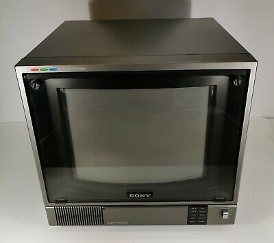 Sony PVM-1371QM Trinitron Color Video Monitor Made in Japan UNTESTED