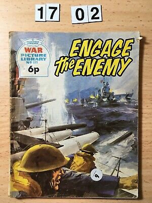 """Fleetway War Picture Library Comic # 811 From 1972. """"Engage The Enemy"""""""