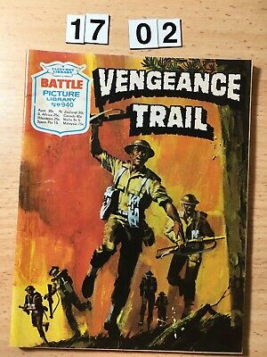"Fleetway Battle Picture Library Comic # 940 From 1975. ""Vengeance Trail"" VG"