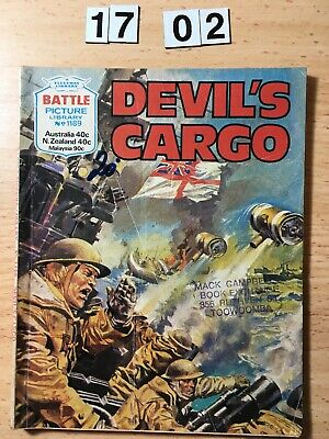 "Fleetway Battle Picture Library Comic # 1189 From 1978. ""Devil's Cargo"""