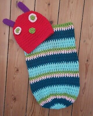 The Very Hungry Caterpillar Knitted Newborn Prop