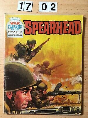 """Fleetway War Picture Library Comic # 1357 From 1977. """"Spearhead""""  VG Cond"""