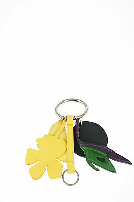 UNBRANDED women Key Rings Multicolor Leather Pendant Keychain Multicolor