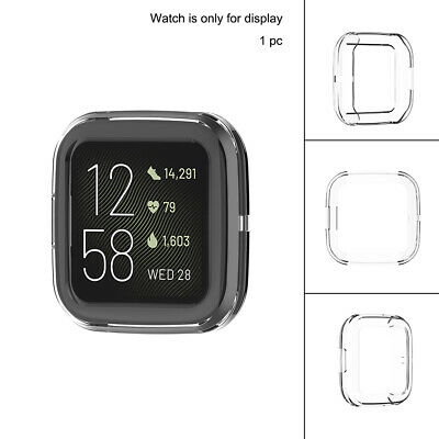 Silicone Case Soft TPU Protective Shell Bumper Cover for FitBit Versa 2 watch