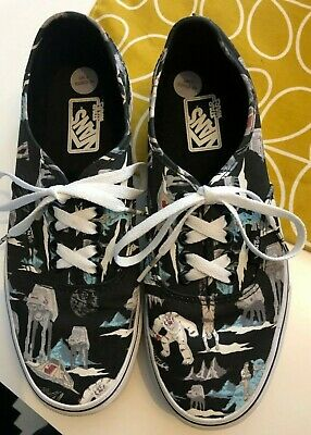 Star Wars RARE Authentic VANS Trainers 'Dark Side/ Planet Hoth' worn once 6UK