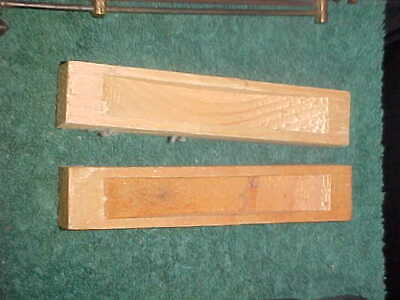 New Ogee Pully Covers 4 1/4 Inches Long.. Natural Not Painted