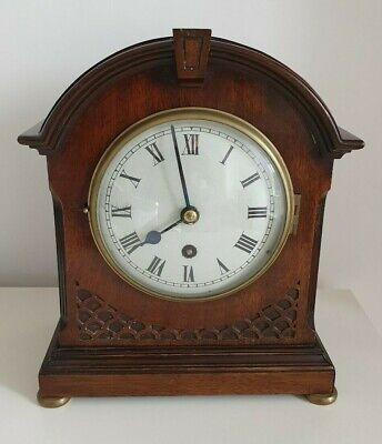 Antique Edwardian Mahogany Inlaid Mantel Clock