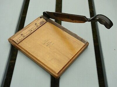 """Vintage Jaynay 5"""" Trimmer / Guillotine / Retro Photographic / Wooden"""