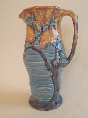 Beautiful Art Deco Large Carlton Ware Blue Night Oak Jug
