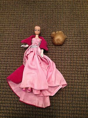 Vintage Rare 1958 Barbie 1962 Midge Doll # 2 With Wig Mattel Japan On Foot