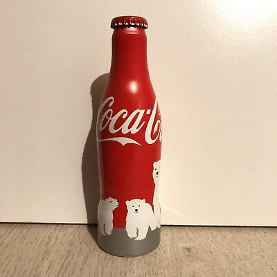 RARE Bouteille Coca Cola OURS POLAR BEAR Pleine Full Bottle Botella Bottiglia