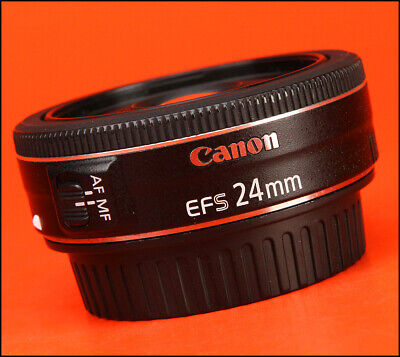 Canon EF-S 24mm F2.8 STM Pancake Lens  Sold with Rear Caps