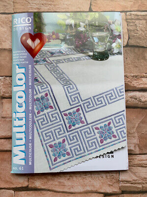 Multicolor Rico Designs Embroidery Satin Stitch Booklet 61 Geometric/Flowers/He