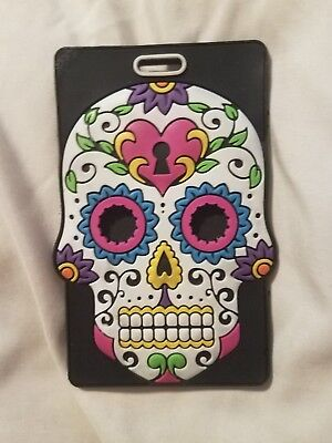 Colorful Skull Luggage Tag_Suitcase Tag_Travel_Mexican_Vodoo