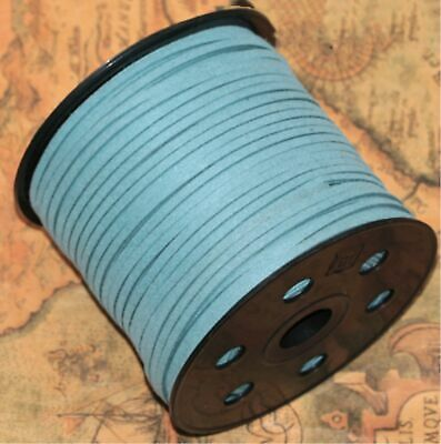 10yd 3mm Jewelry Making Thread Cords DIY Suede Leather String grey blue new