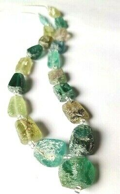 Ancient  Old Roman Glass Beads Square Mixed Size   Random for Necklace
