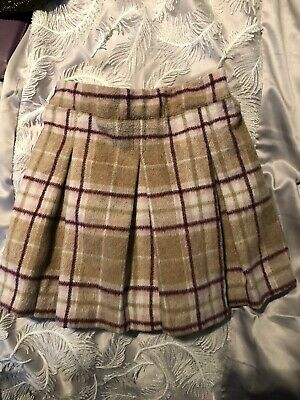 Next Soft Checked Lined Pleated Skirt 18-24mths