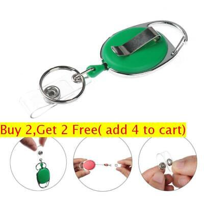 Belt Clip Retractable Pull Keychain Badge Reel Name Tag Card Holder ID Lanyard