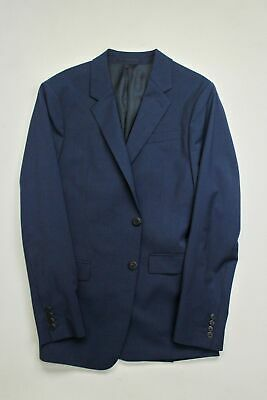 $595 Theory Chambers Tonal Tic-Stripe Slim Fit Suit Jacket 40L Navy Blue