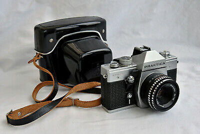 Praktica MTL3 Film Camera with 50mm Domiplan Lens and Case Beautiful Condition