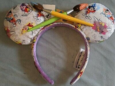 Disney Parks Mouse Ears Headband Ink and Paint NEW 2020