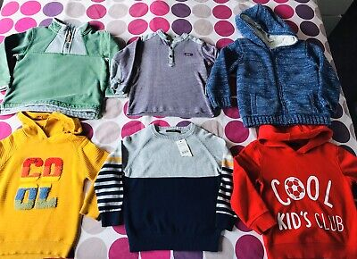 Boys 4-5 Years Jumper/Hoodie Bundle X6 NEXT George Mini Club Ted Baker FatFace
