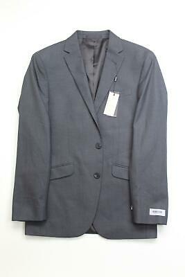 $295 Kenneth Cole Reaction Men's Slim-Fit Stretch Textured Sport Coat 36R Grey