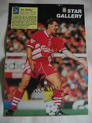 Jan Molby Autographed Program Centrefold Liverpool Fc