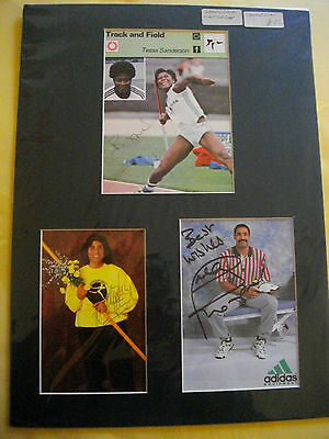 Olympic Athletes Autograph, Thompson Sanderson Whitbread