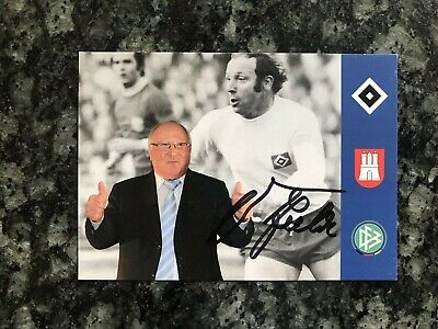Uwe Seeler Football Germany Autographed Signed 6x4 Photograph Card