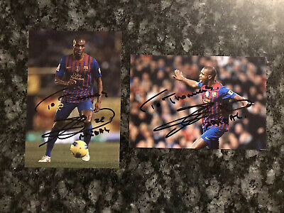 2 Eric Abidal 6x4 Signed Autographed Photographs Barcelona Personalised