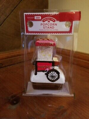 New Holiday Time Christmas Village  Popcorn Stand House Accessory.