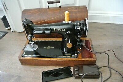 Vintage Singer 201K2 Electric Sewing Machine, antique singer sewing machine