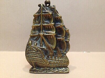 Vintage Reclaimed Door-Knocker Salvage Solid Brass Ship HMS VICTORY Royal Navy