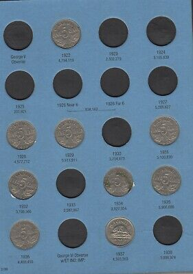 Canada Canadian 5 Cent Nickel Coin Lot 50 Piece Mixed Dates Collection Set Group