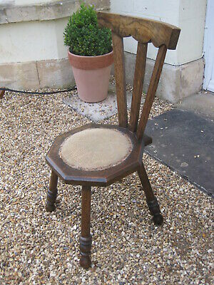 Arts and Crafts Spinning Chair with Splat Back and Octagonal Seat M