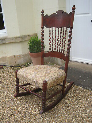 Arts and Crafts Art Nouveau Rocking Chair M