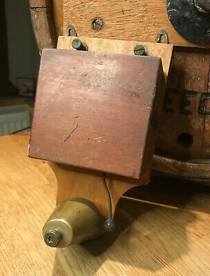 Be Vintage Electric Door Bell Wood And Brass