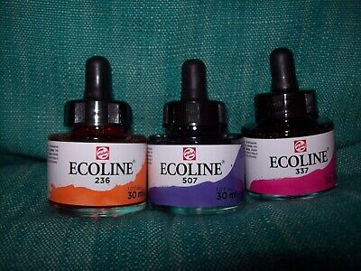 New Pack of 3 Talons Ecoline Artist Inks - Assorted Colours - Lot 1