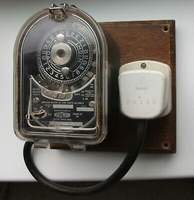 Vintage Horstmann time clock switch A lovely working collectors item.
