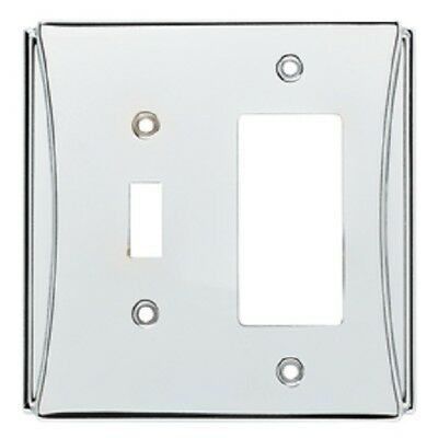 Chrome Switch Decorator Wall Plate Brainerd W35395